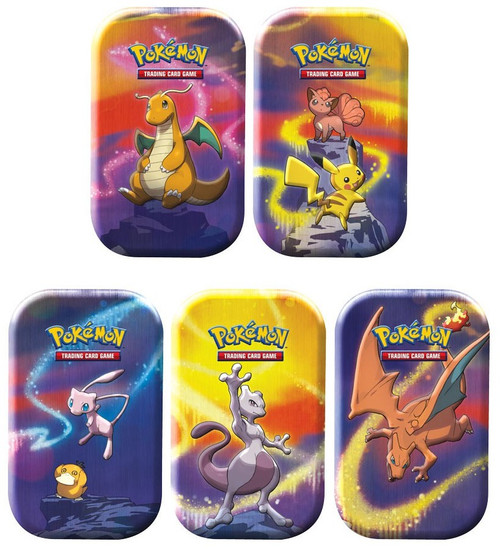 Pokemon Trading Card Game Kanto Power Set of 5 Mini Tin Sets