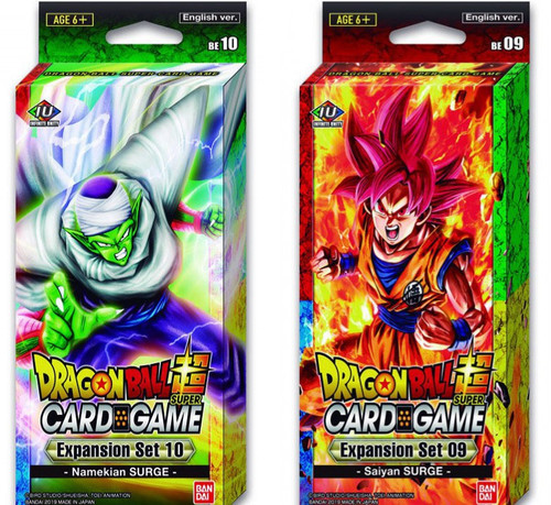 Dragon Ball Super Collectible Card Game Namekian Surge & Saiyan Surge Expansion Set of 2 [9 & 10]