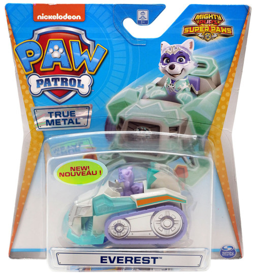 Paw Patrol Mighty Pups Super Paws True Metal Everest Diecast Car [Mighty Pups Super Paws]