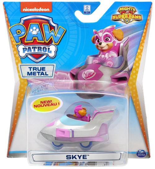 Paw Patrol Mighty Pups Super Paws True Metal Skye Diecast Car [Mighty Pups Super Paws]