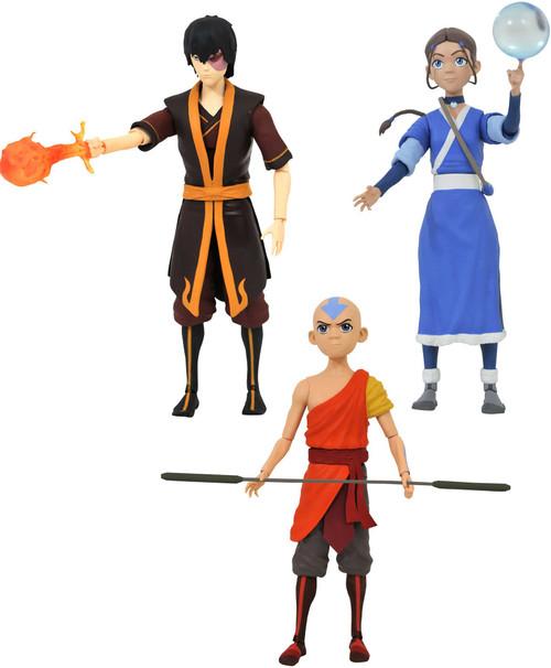 Avatar the Last Airbender Series 1 Aang, Katara & Zuko Set of 3 Action Figures
