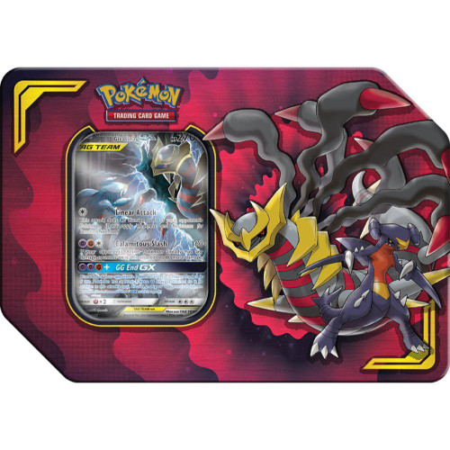 Pokemon Trading Card Game GX Tag Team Power Partnership Garchomp & Giratina-GX Tin Set [4 Hidden Fates Booster Packs, Promo Card & Marker!]