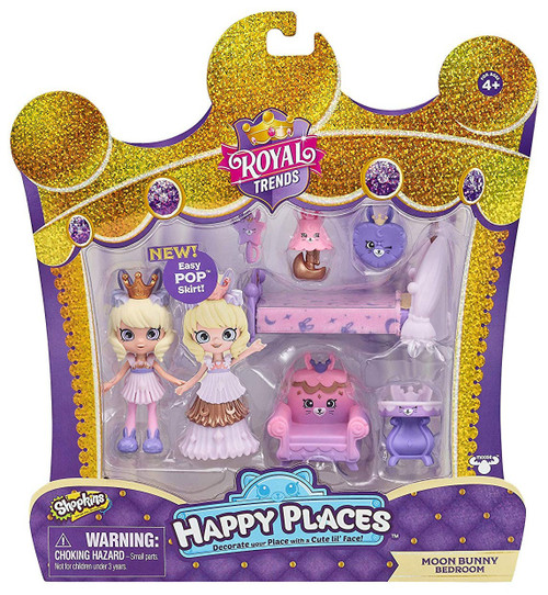 Shopkins Happy Places Royal Trends Moon Bunny Bedroom Welcome Pack