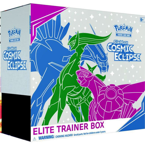 Pokemon Trading Card Game Sun & Moon Cosmic Eclipse Arceus, Dialga & Palkia Elite Trainer Box [8 Booster Packs, 65 Card Sleeves, 45 Energy Cards & More]