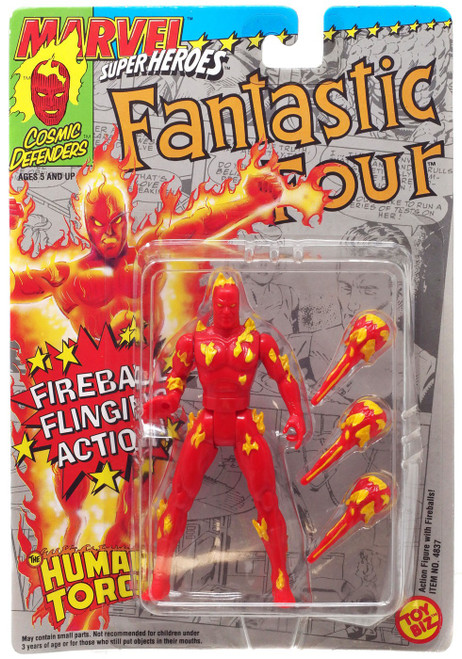 Marvel Cosmic Defenders Super Heroes The Human Torch Action Figure [Moderate shelf wear]