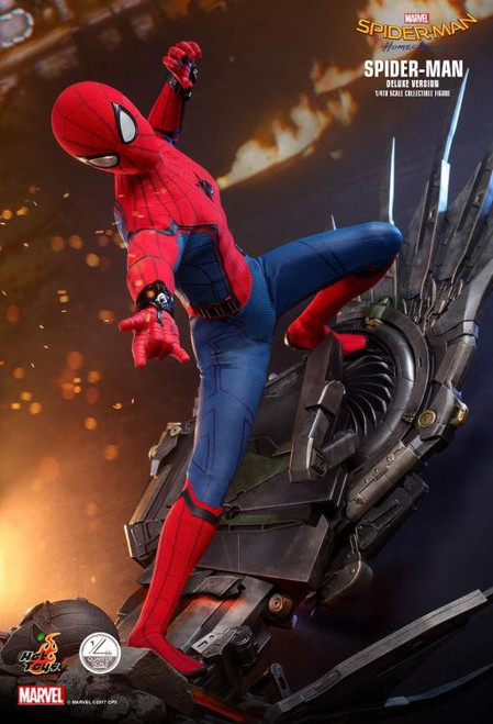 Marvel Spider-Man Homecoming Movie Masterpiece Spider-Man Quarter Scale Collectible Figure [Deluxe Version] (Pre-Order ships May)