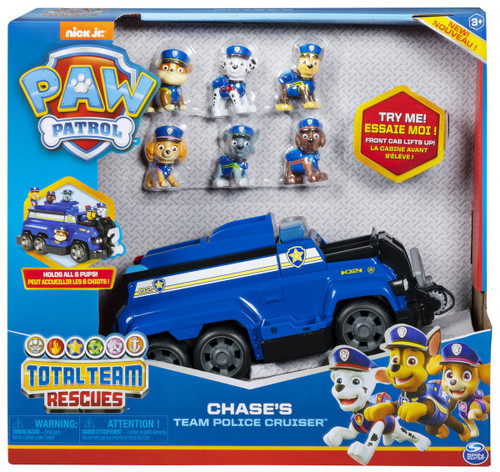 Paw Patrol Total Team Rescues Chase's Team Police Cruiser