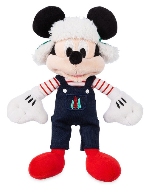 Disney 2019 Holiday Mickey Mouse Exclusive 9-Inch Mini Bean Bag Plush