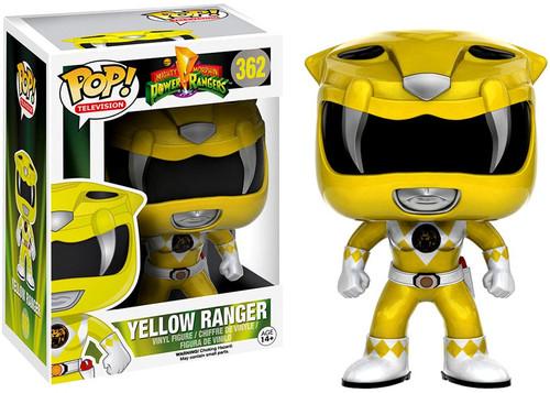 Funko Power Rangers POP! TV Yellow Ranger Exclusive Vinyl Figure #362 [Metallic, Damaged Package]