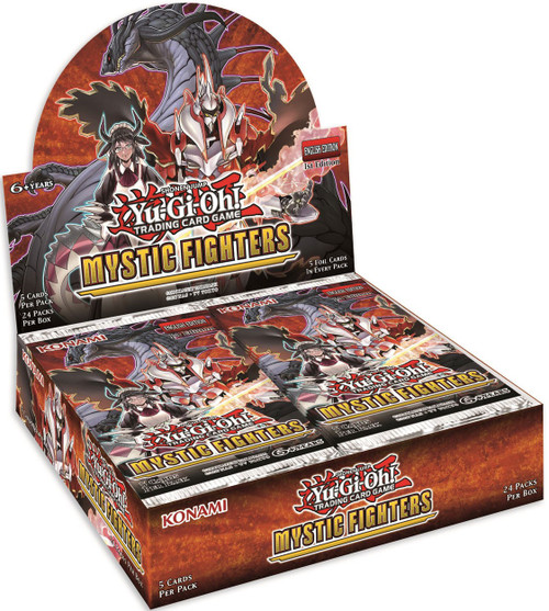 YuGiOh Trading Card Game Mystic Fighters Booster Box [24 Packs]