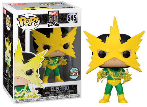 Funko 80th Anniversary POP! Marvel Electro Exclusive Vinyl Figure #545 [First Appearance, Specialty Series]