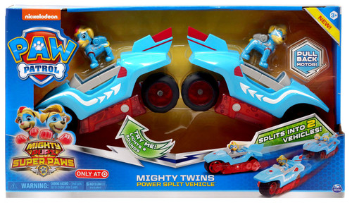 Paw Patrol Mighty Pups Super Paws Mighty Twins Exclusive Power Split Vehicle