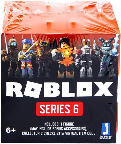 Roblox Series 6 Mystery Pack [Orange Cube, 1 RANDOM Figure & Virtual Item Code!]