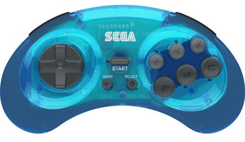 Sega Genesis 8-Button USB Port Wireless Controller [Clear Blue, 2.4Ghz]