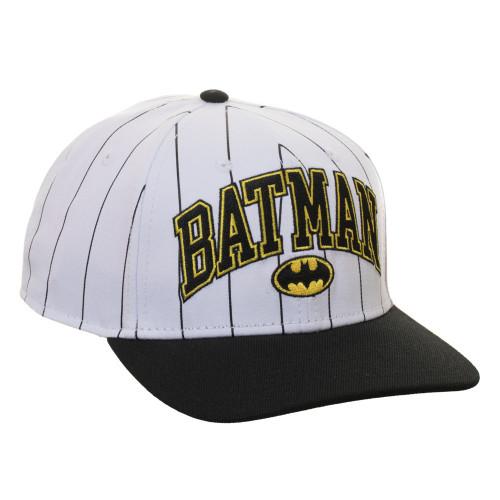 DC Batman Pinstripe Pre-Curved Snapback Cap