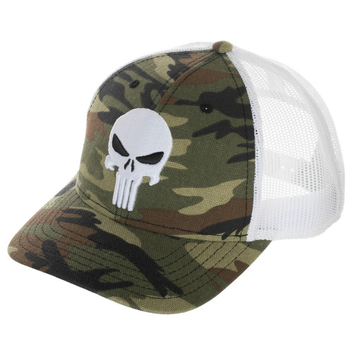 Marvel Punisher Camo Trucker Snapback Cap