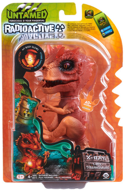 Fingerlings Untamed Dinosaur Radioactive X-Ray the T-Rex Figure [Orange & Red]