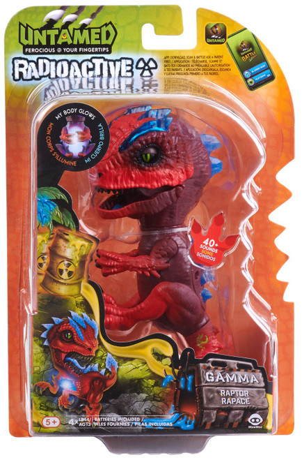 Fingerlings Untamed Dinosaur Radioactive Gamma the Raptor Figure [Red & Blue]