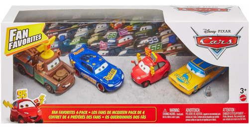 Disney / Pixar Cars Fan Favorites Mater, McQueen, Ramone, Maddy McGear Diecast Car 4-Pack