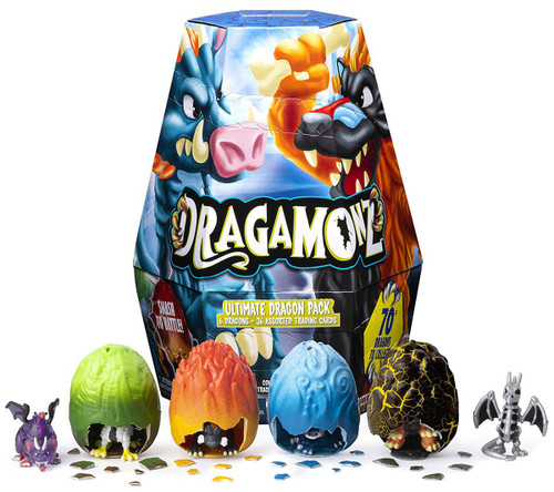 Dragamonz Collectible Figure & Trading Card Game Ultimate Dragon Pack Mystery 6-Pack [6 Dragons & 36 Cards]
