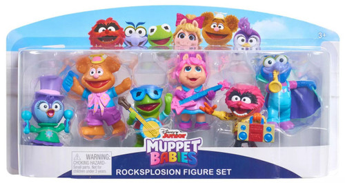 Disney Junior Muppet Babies Rocksplosion Set Exclusive 2.5-Inch Mini Figure 6-Pack