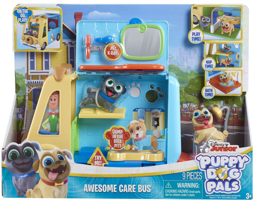 Disney Junior Puppy Dog Pals Awesome Care Bus Playset