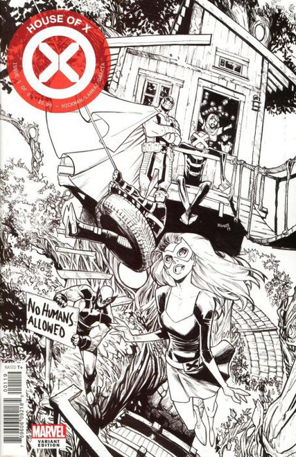 Marvel Comics House of X #1 Comic Book [Humberto Ramos Party Sketch Variant Cover]