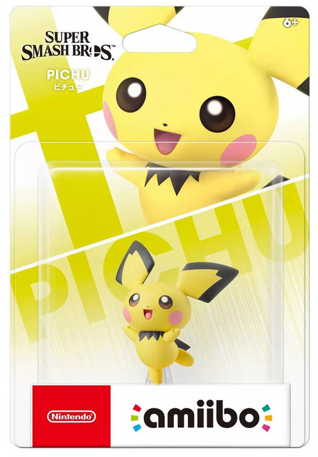Nintendo Super Smash Bros Amiibo Pichu Mini Figure