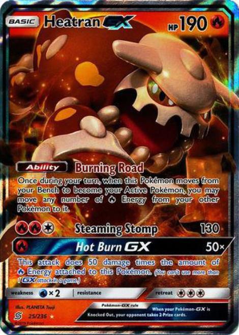 Pokemon Trading Card Game Unified Minds Ultra Rare Heatran GX #25