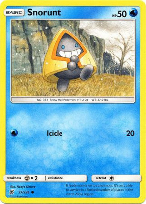 Pokemon Trading Card Game Unified Minds Common Snorunt #37