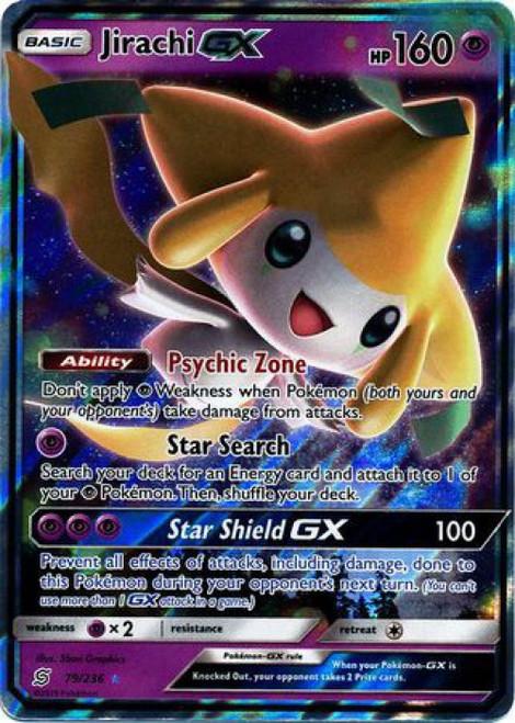 Pokemon Trading Card Game Unified Minds Ultra Rare Jirachi GX #79