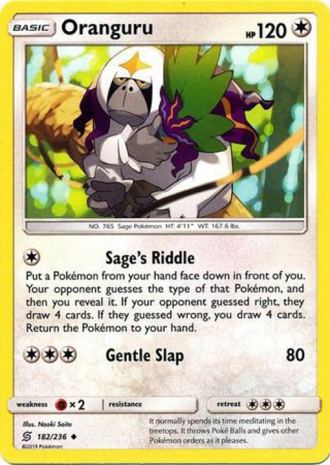 Pokemon Trading Card Game Unified Minds Uncommon Oranguru #182
