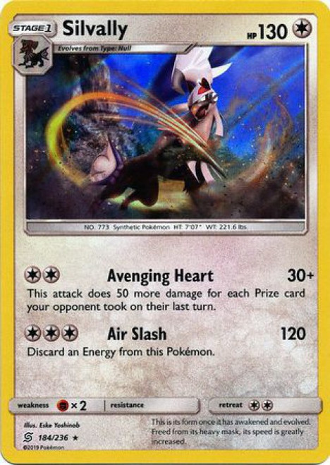 Pokemon Trading Card Game Unified Minds Rare Holo Silvally #184