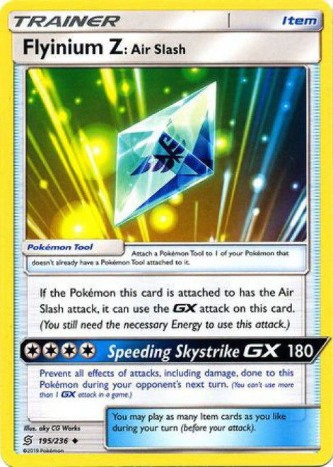 Pokemon Trading Card Game Unified Minds Uncommon Flyinium Z Air Slash #195