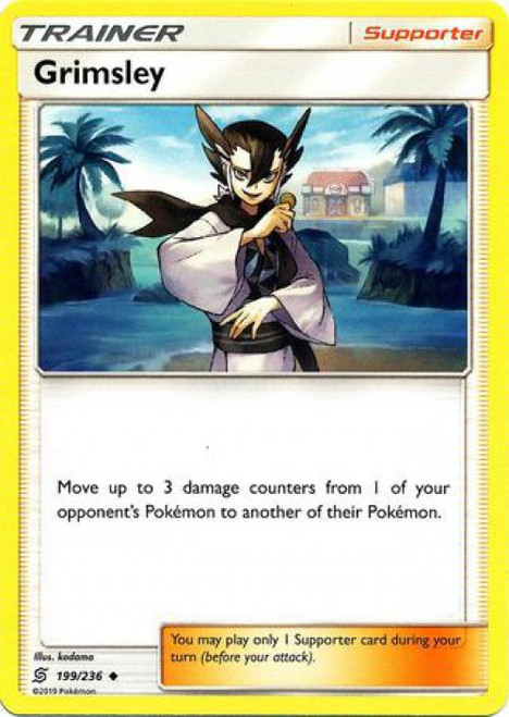 Pokemon Trading Card Game Unified Minds Uncommon Grimsley #199