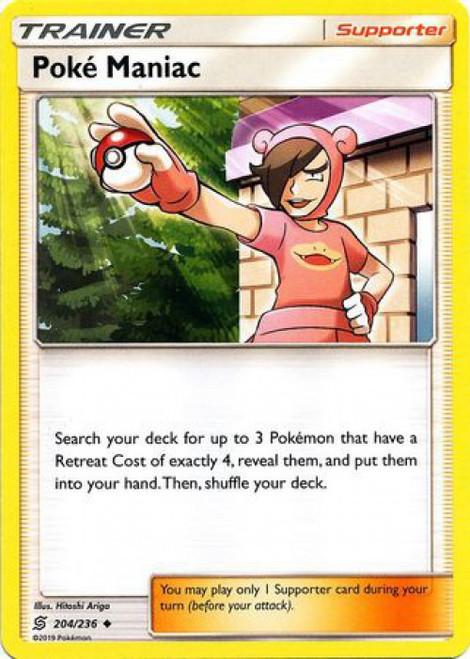 Pokemon Trading Card Game Unified Minds Uncommon Poke Maniac #204