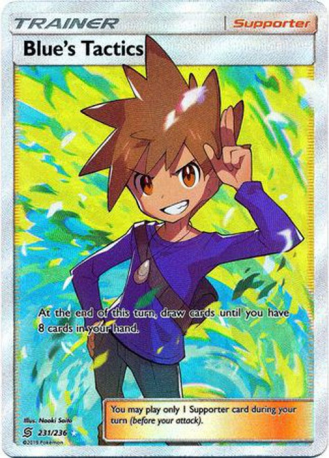 Pokemon Trading Card Game Unified Minds Ultra Rare Blue's Tactics #231