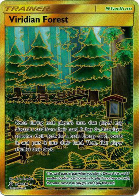 Pokemon Trading Card Game Unified Minds Secret Rare Viridian Forest #256