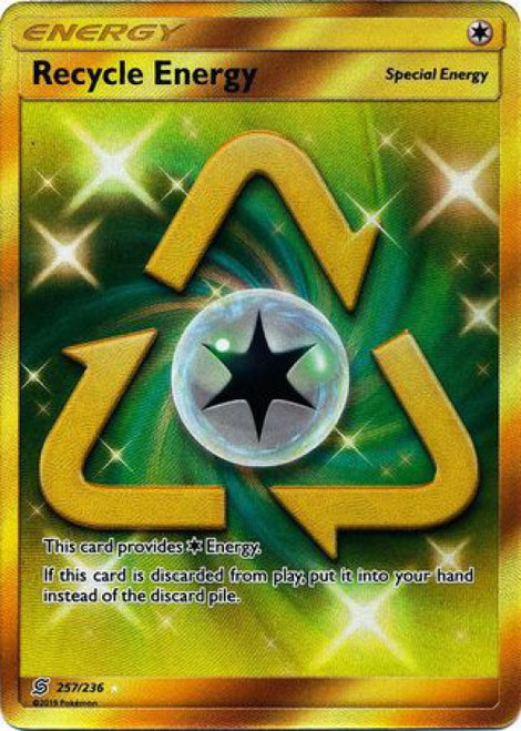 Pokemon Trading Card Game Unified Minds Secret Rare Recycle Energy #257