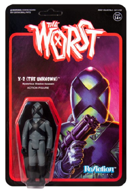 ReAction The Worst X-2 The Unknown Action Figure [Wide Release Colors]