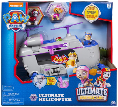 Paw Patrol Ultimate Rescue Ultimate Helicopter Exclusive Vehicle Playset [With Skye & Marshall!, Damaged Package]