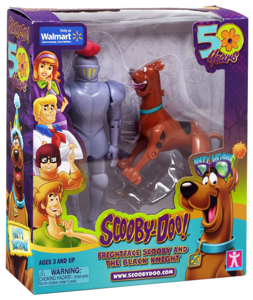 Scooby Doo 50 Years Frightface Scooby & The Black Knight Exclusive Action Figure 2-Pack