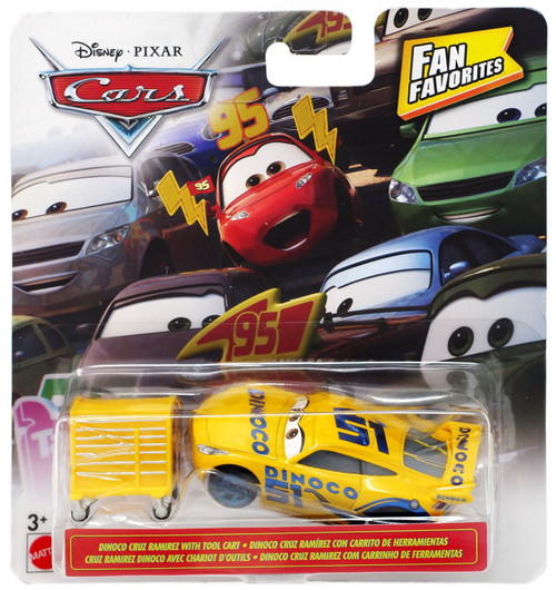 Disney / Pixar Cars Fan Favorites Dinoco Cruz Ramirez with Tool Cart Diecast Car