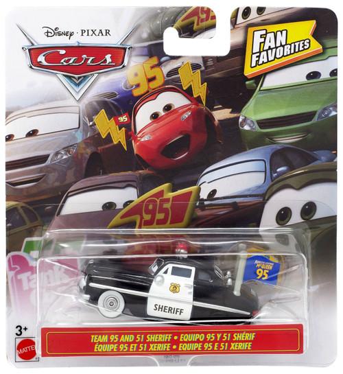 Disney / Pixar Cars Fan Favorites Team 95 & 51 Sheriff Diecast Car