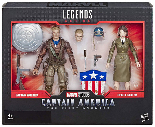 Avengers: Civil War Marvel Studios: The First Ten Years Marvel Legends Captain America & Peggy Carter Action Figure 2-Pack
