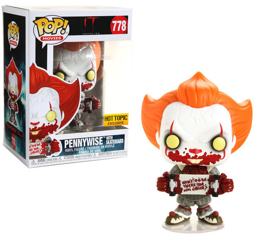 Funko IT Movie Chapter 2 POP! Movies Pennywise Exclusive Vinyl Figure #778 [with Skateboard]