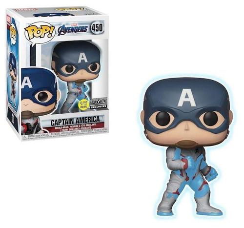 Funko Avengers Endgame POP! Marvel Captain America Exclusive Vinyl Figure #450 [Glow-in-the-Dark]
