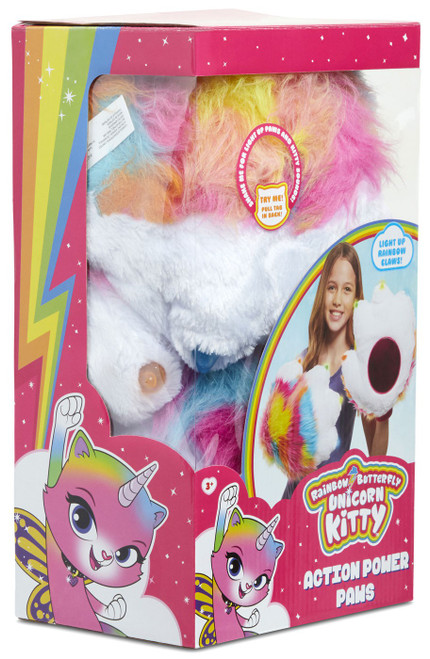 Nickelodeon Rainbow Butterfly Unicorn Kitty Action Power Paws Plush