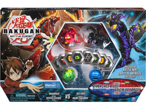 Bakugan Battle Planet Dragonoid & Ventus Vicerox VS Nillious & Aquos Phaedrus Exclusive Set