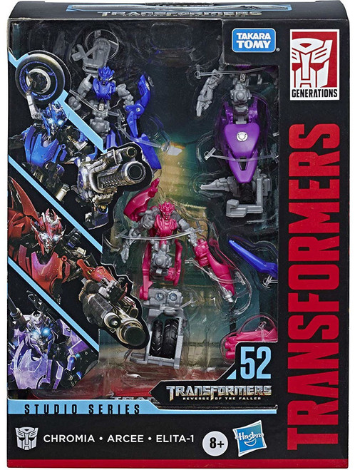 Transformers Generations Studio Series Arcee, Chromia & Elita-1 Deluxe Action Figure 3-Pack #52